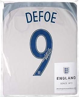 Icons.com Jermain Defoe Official England Back Signed 2016-17 Home Shirt