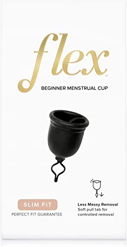 FLEX Menstrual Cup - Slim Fit - Unique Pull String Design - Loved by All Body Types - Stainproof - Soft - USA Made - ...