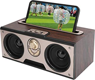 $30 » Vbestlife Retro Wooden Bluetooth Speaker,HiFi Wireless Portable Audio Music Player,Support Memory Card,MP3/WMA/MPG(Brown)