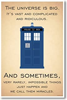 Doctor Who - Tardis - The Universe Is Big - New Quote Poster by PosterEnvy