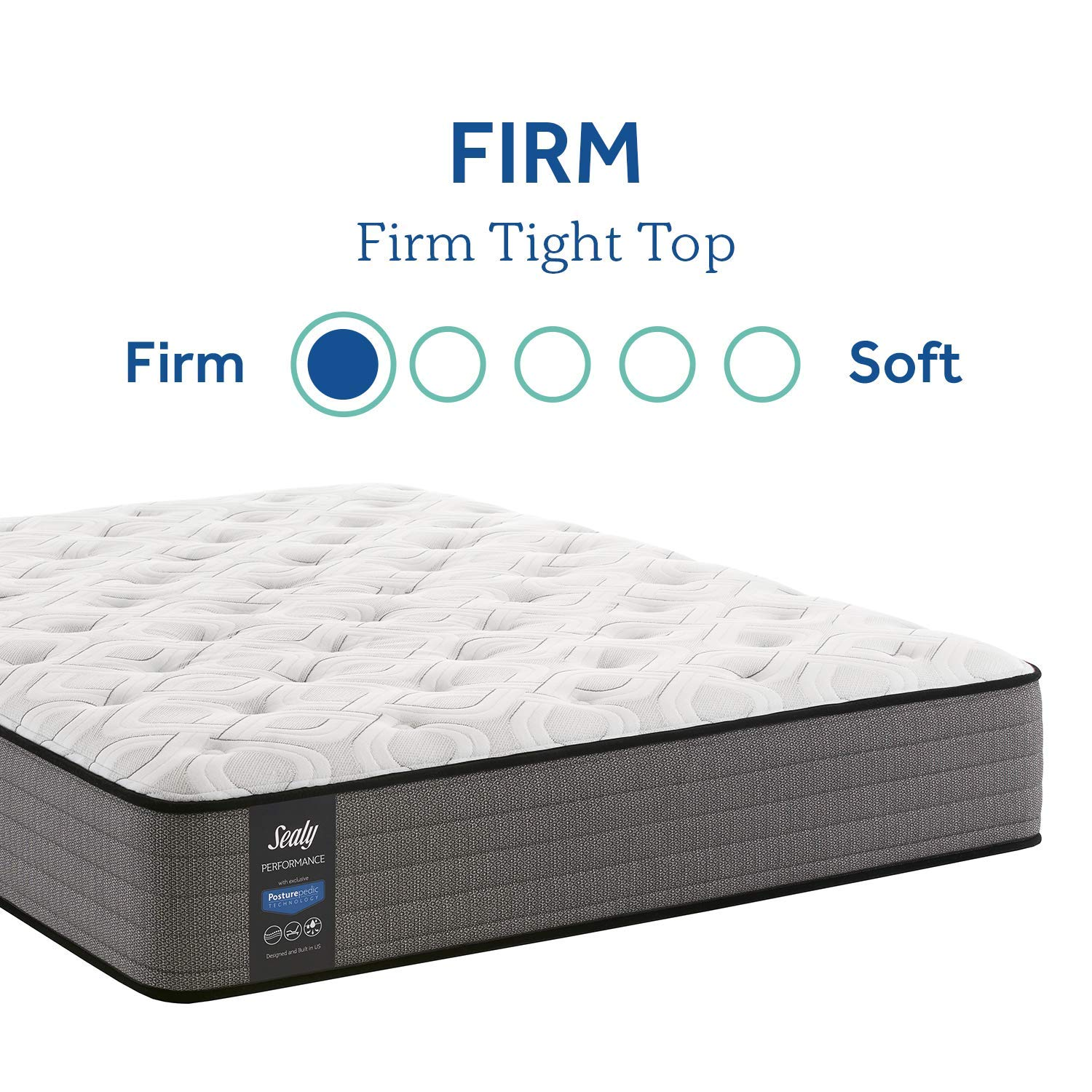 Sealy Response Performance 11-Inch Firm Tight Top Mattress, Queen, White