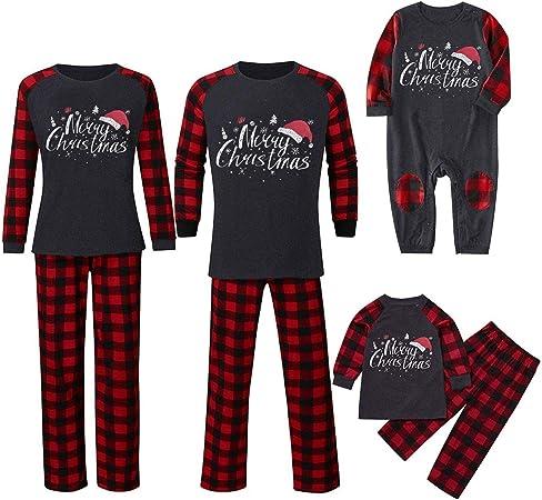Hunpta - Conjunto de pijamas a juego de la familia, pijamas ...