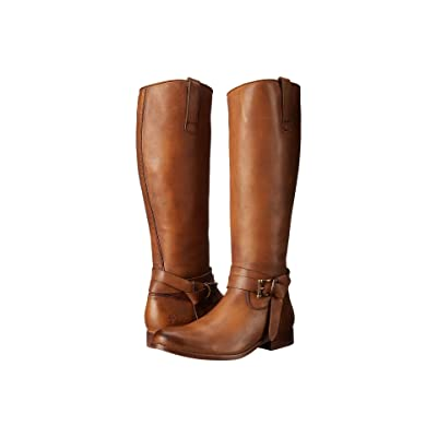 Frye Melissa Knotted Tall (Tan Polished Stonewash) Cowboy Boots