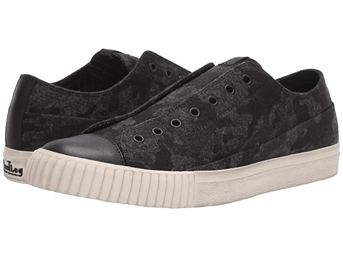 John Varvatos  Camo Tweed Vulcanized Low Top (Mineral Black) Mens Shoes