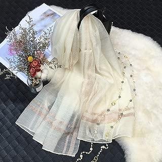YANGBM Silk Cashmere + Silk Scarves Solid Color Cheongsam Dress Decoration Warm Wild (Color : E)