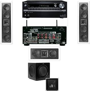 Klipsch KL-6504-THX In-Wall LCR Speaker-3.1 Onkyo TX-NR838 7.2 Channel Network- White