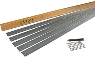 Coyote Landscape Products 5 Piece Steel Home Kit Galvanized Edging with 15 Plated Edge Pins, 4