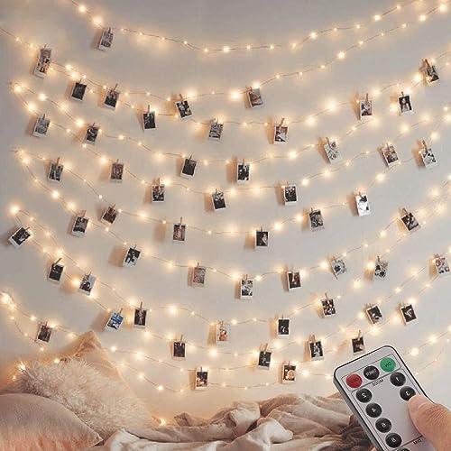 [Lot de 2] guirlande Lumineuse 120 LED 12M 8 modes Alimenté par USB Fairy Lights IP65 pour l'extérieur et l'intérieur...