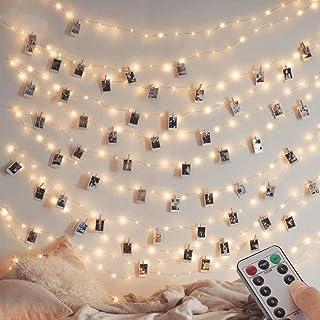 [Lot de 2] guirlande Lumineuse 120 LED 12M 8 modes Alimenté par USB Fairy Lights IP65 pour l'extérieur et l'intérieur en c...
