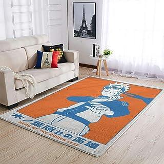 OwlOwlfan Naruto Grand tapis de yoga pour chambre à coucher, canapé, salon, cuisine, café, bureau, blanc 122 x 183 cm
