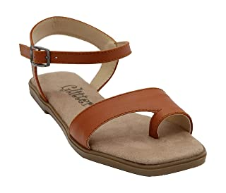 Glitter Faux Leather Basic Open Sandals for Women