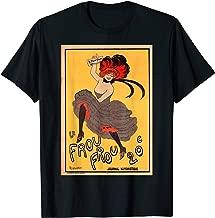 Vaudeville Victorian Le Frou Frou Burlesque Dancer T-shirt