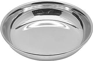 Raj Steel Halwa Side Plate, Silver, 10 cm, RHP005
