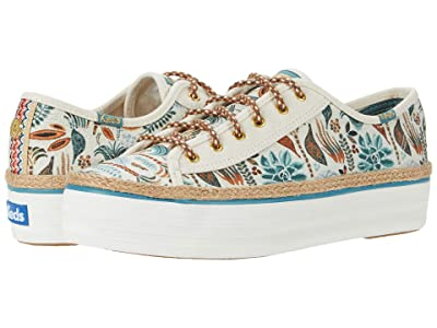 Keds Jungalow x Triple Kick (Rainforest Printed Canvas Natural Multi) Women