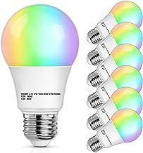 Smart WiFi Light Bulb, 12W A19 LED RGB Bulbs 100 Watt Equivalent, Dimmable E26 Bulb 1100Lumens, 2700K-6500K, 2.4GHz, Compa...