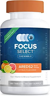 Focus Select AREDS2® Chewable Eye Vitamin-Mineral Supplement, 180 ct (90 Day)