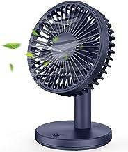 MOSOTECH Ventilador USB, 5 Inch Ventilador Mini de Mesa con 3 Modos de Velocidades, Mini Ventilador Potente y Silencioso para Escritorio Hogar Oficina - Azul
