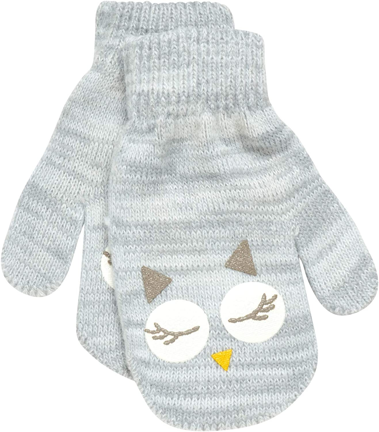 ABG Accessories Girls Critter Winter Hat and 2 Pair Gloves or Mittens Toddler//Little Girls