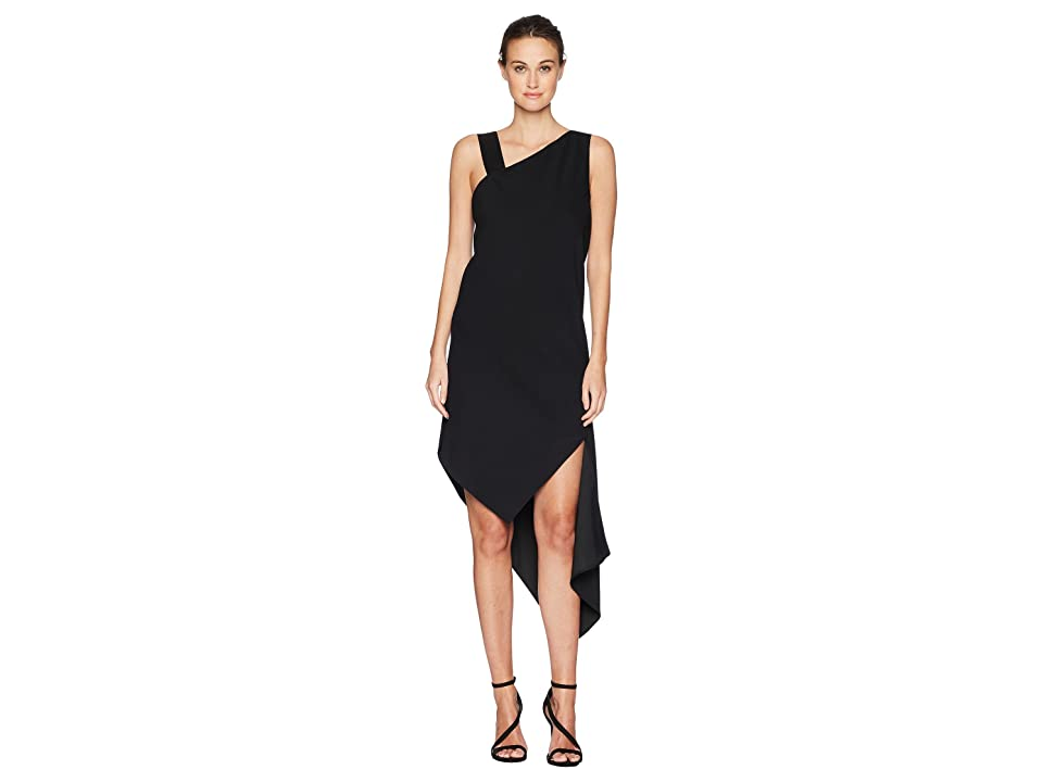 Neil Barrett Spiral Fall-Away Dress (Black) Women