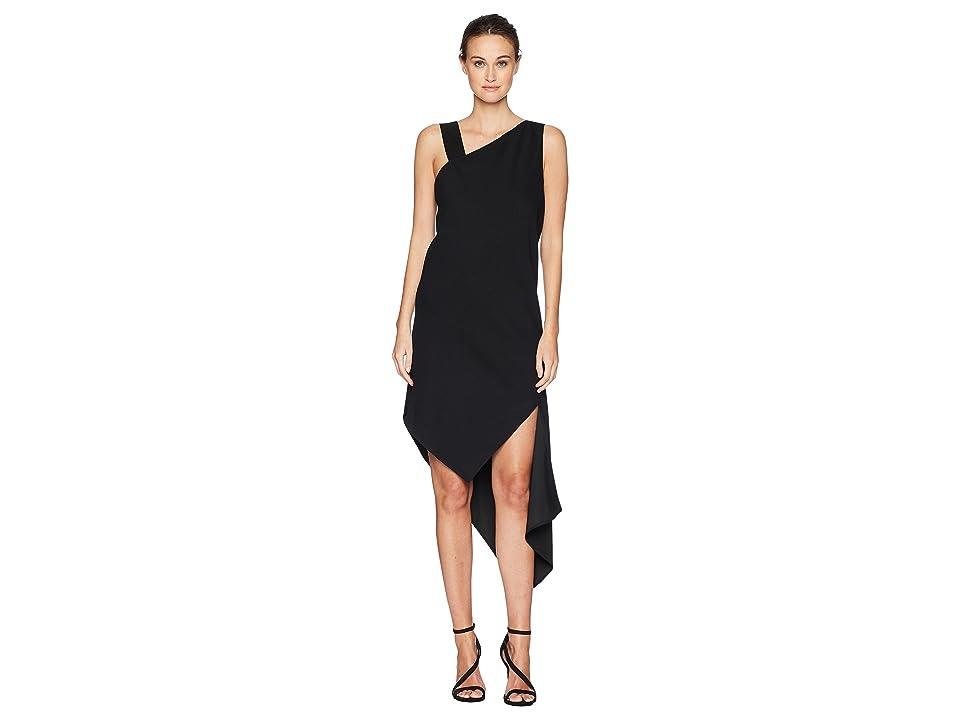 Neil Barrett Spiral Fall-Away Dress (Black) Women