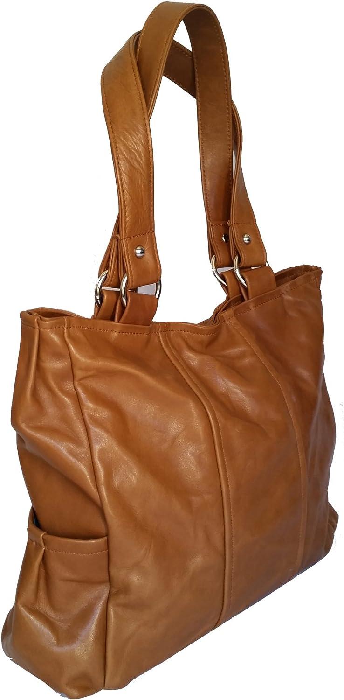 Fgalaze Brown leather tote bag  rustic purse  shoulder handbag katty