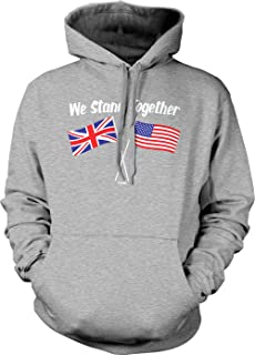 We Stand Together - USA & UK Union Jack Flags Unisex Hoodie Sweatshirt