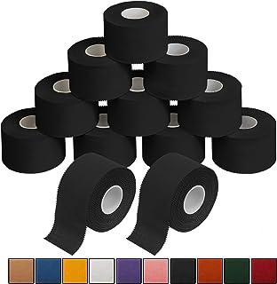 ALPIDEX 12 x Cinta Adhesiva Deportiva 3,8 cm x 10 m Sport Tape, Color:Negro