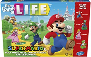 Hasbro Gaming The Game of Life: Super Mario Edition Board Game for Kids Ages 8 and Up, Play Minigames, Collect Stars, Batt...