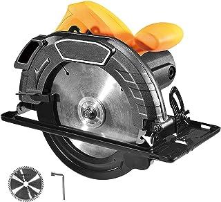 Elektrisk cirkelsåg handhållen cirkelsåg med hastighet 5 000 RPM cirkelsåg med blad 10 cm 9 cm ren koppar motor bordssågar...