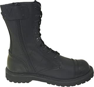 G4U-CLX A1B18V Men's Tactical Boots Leather Black Combat Military 10 inch Cap Toe Side Zipper Army Work Shoes
