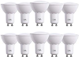 Juego de 10 Bombillas LED Spotlight GU10 Dya Ø50 x 62, 6W 540 lm, luz natural 4000 K °