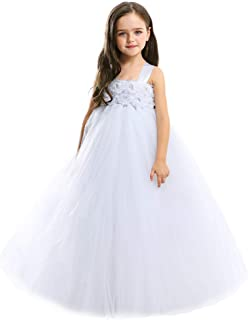 09c58551 MALIBULICo Handmade Fluffy Flower Girl Tutu Dress for Wedding and Birthday  Photoshoot