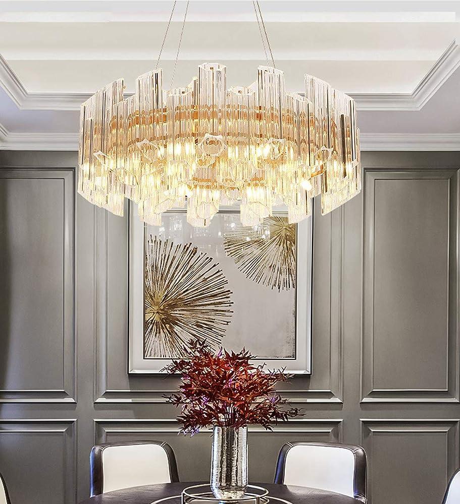 Kuandar chandelier,lampadario di cristallo di lusso led,con otto fonti di luce RYYABC207