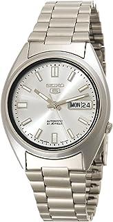 Seiko Men's SNXS73 Seiko 5 Automatic White Dial Stainless-Steel Bracelet Watch
