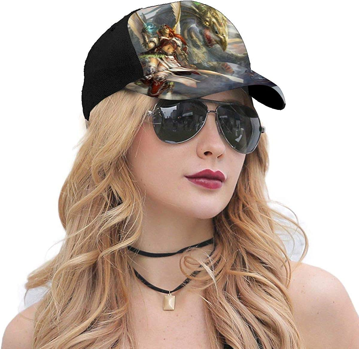 HsHdesign Womens Magical Women 3D Printed Active Caps Adjustable 6-Panel Hats for Suncreen