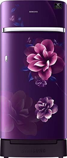 Samsung 198 L 4 Star Inverter Direct-Cool Single Door Refrigerator (RR21T2H2XCR/HL, Camellia Purple, Base Stand with Drawer) 1
