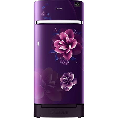 Samsung 198 L 4 Star Inverter Direct-Cool Single Door Refrigerator (RR21T2H2XCR/HL, Camellia Purple, Base Stand with Drawer)