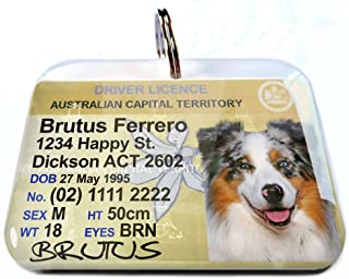 Australia Driver License Australian Capital Territory ACT Personalized Custom ID Tags for Dogs Cats Pets