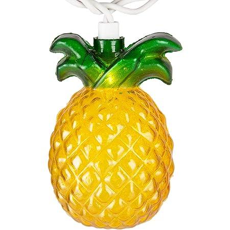 Pineapple String Lights, Outdoor String Pineapple Lights, Outdoor Party Lights, Summer Patio String Lights, String Pineapple Lights, Hawaiian Themed Lights (1 Pack of 10 Pineapple Lights)