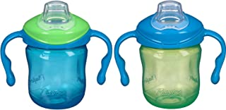 Playtex Sipsters Stage 1 Spill-Proof, Leak-Proof, Break-Proof Soft Spout Sippy Cups for Boys - 6 Ounce - 2 Count, Blue
