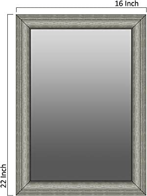 Elegant Arts & Frames Wall Decor Mirror with Rich Synthetic Moulding - Decorative Wall Dressing Mirror,Bathroom Mirror,Bedroom Mirror 18x12 Mirror Size