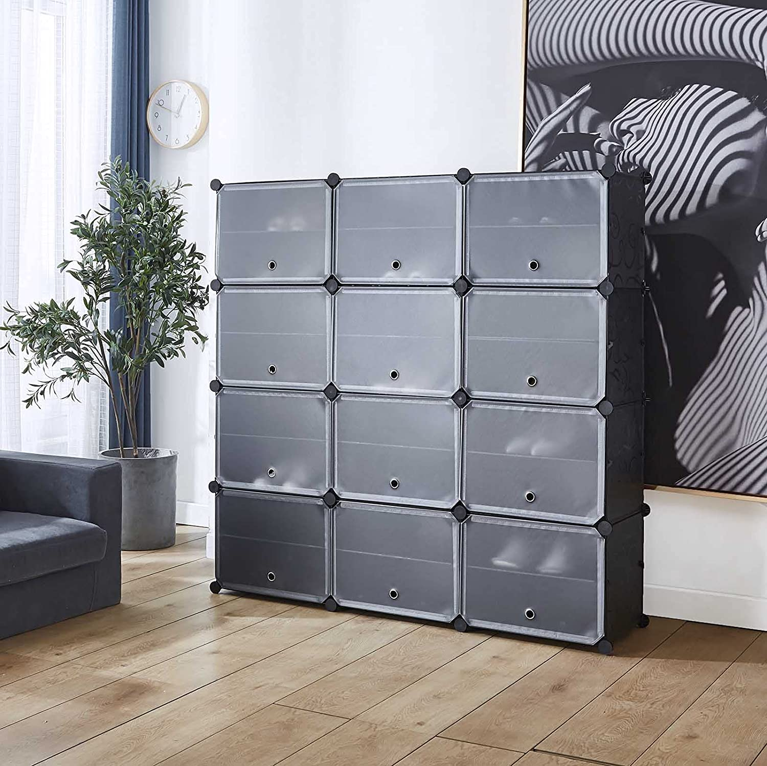National uniform free shipping Portable Shoe Storage Organizer 4 Tier Fixed price for sale Plastic Cube Rack 24