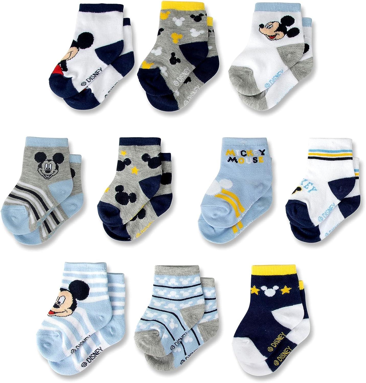 Disney Brand Cheap Sale Venue baby-boys Baby mickey Socksnewborn Mouse10-packinfant [Alternative dealer]