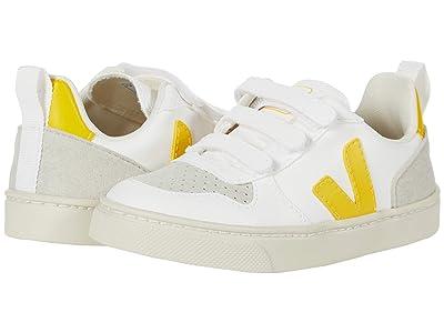 VEJA Kids V-10 Velcro (Toddler) (White/Tonic) Kids Shoes