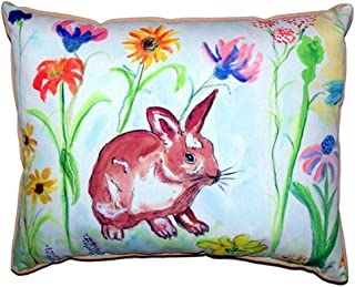 """Betsy Drake SN428 Whiskers Bunny Pillow, 11"""" x14"""""""