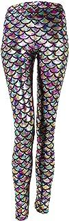 New Mermaid Fish Scale Printed Leggings Stretch Tight Pants