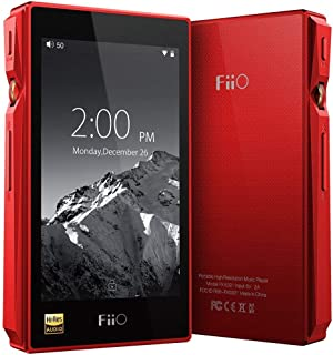 FiiO X5 3rd Gen Hi-Res Certified Lossless Music Player with Touch Screen Android OS and 32GB Storage (Red)
