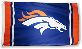 Winner-Sports NFL Denver Broncos 3x5 Foot Polyester Flag - Vivid Color and Double Stitched - Super Bowl Banner with Brass Grommets 3 X 5 FT