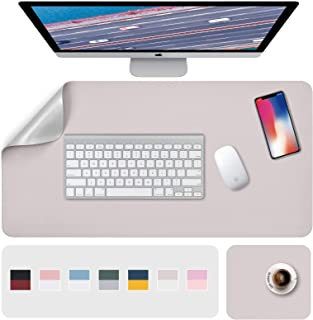 """Desk Pad, Desk Mat, Mouse Mat, XL Desk Pads Dual-Sided Gray/Silver, 31.5"""" x 15.7"""" + 8""""x11"""" PU Leather Mouse Pad2 Pack Wat..."""
