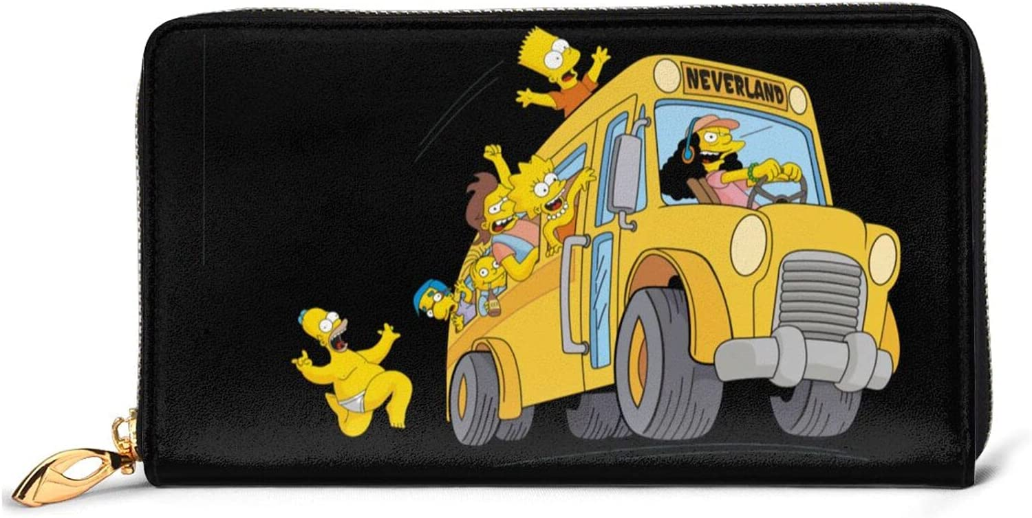 The Simpsons Animation Coin Purse Cartoon Zipper Bombing new work Classic Wallet Selling rankings